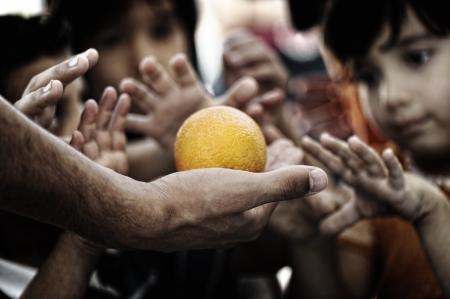 pobreza: los niños de la pobreza Foto de archivo