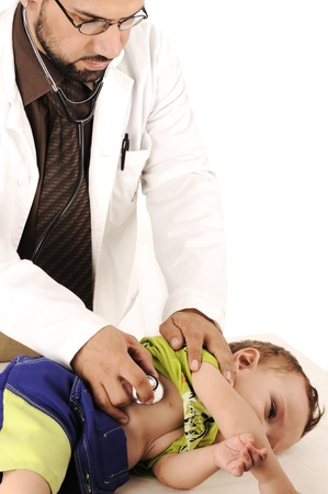 Doctor examining little baby boy Stock Photo - 10680668