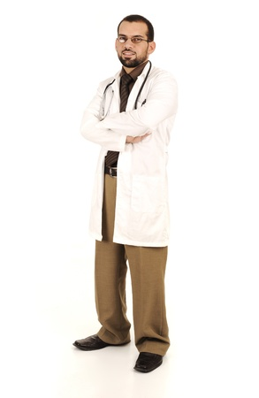 Young successful doctor, medical working in hospital photo