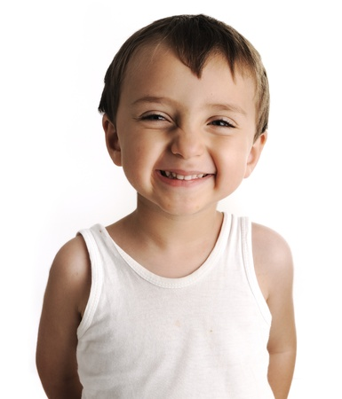 boy underwear: Portrait of an innocent kid  giving you a cute smile