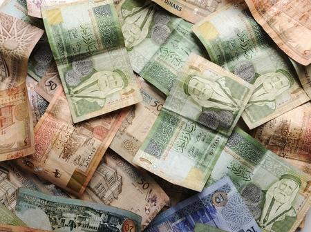 power of money: Arabic money banknotes
