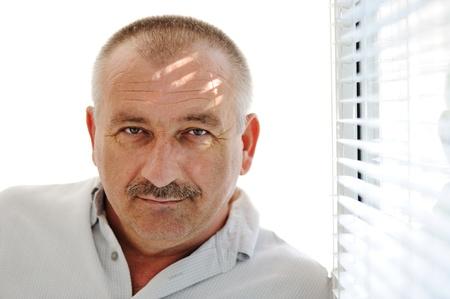 50 60 years: Senior man indoor