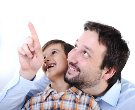 Happy father and son Stock Photo - 11176908