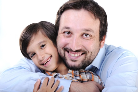 Happy father and son Stock Photo - 11176903