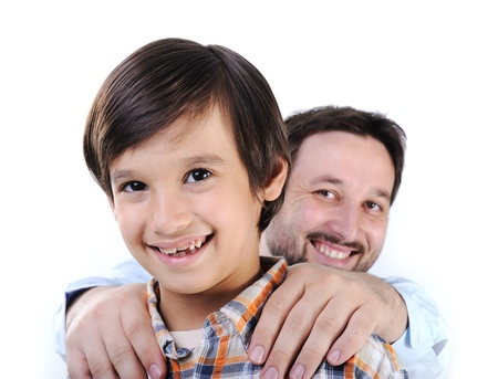 Happy father and son Stock Photo - 11176829