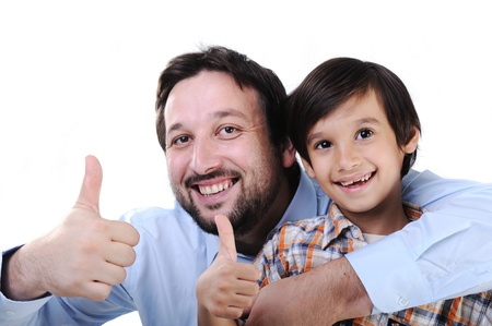 Happy father and son Stock Photo - 11176852