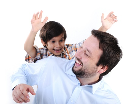 Happy father and son Stock Photo - 11176664