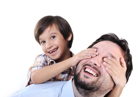 otec: Šťastný otec a syn