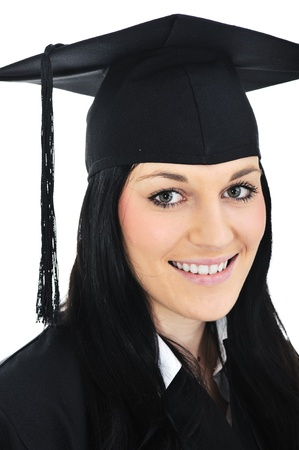 Student girl in an academic gown, graduating and diploma Stock Photo - 11176876