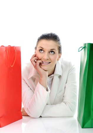 Beautiful young female with shopping bags Stock Photo - 11176686