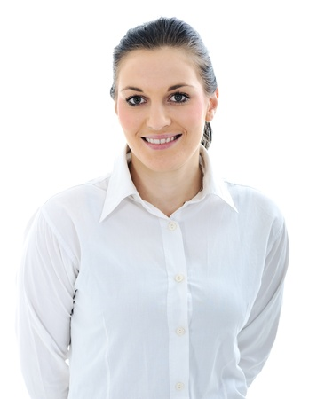 Young  woman wearing white suit Stock Photo - 11176629