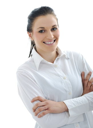 Young beauty woman with white shirt Stock Photo - 11176588