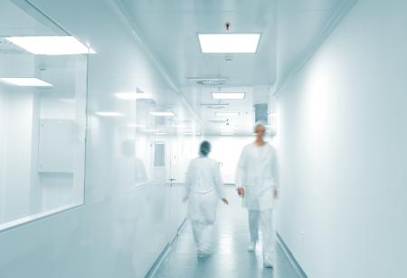 Modern working environment, people walking inside Stock Photo - 11953011