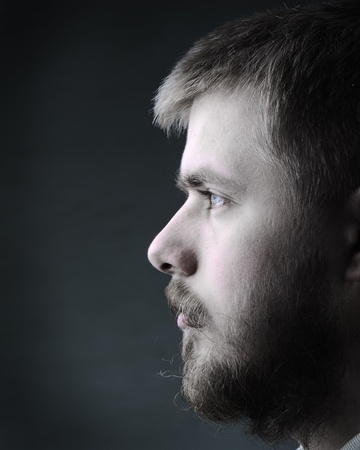 dark blond: Portrait of young man with beard