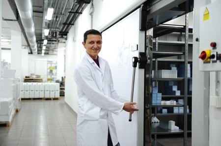 Industriële moderne koelkast Stockfoto