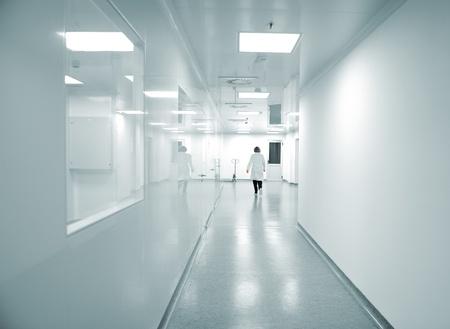 Modern bright factory interior