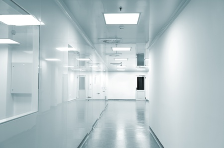 Empty background of modern  factory environment photo