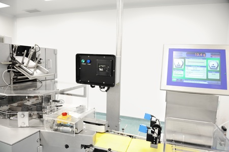 high scale: Automated production line in modern factory