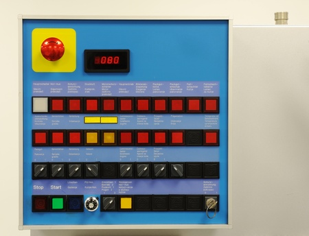 Switch panel at modern factory photo