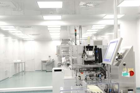 laboratory tools: production line in modern factory