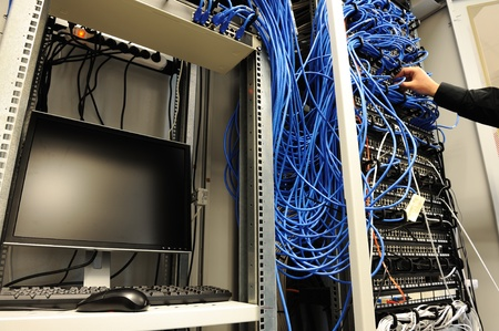 Server room with equipments photo