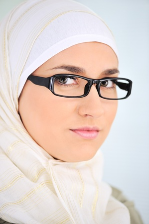Muslim business woman in office photo
