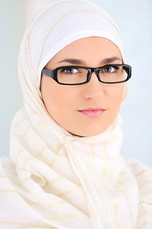 Muslim beautiful woman indoor photo