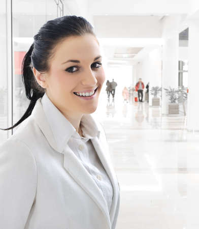 Young woman with suit indoor Stock Photo - 12627172