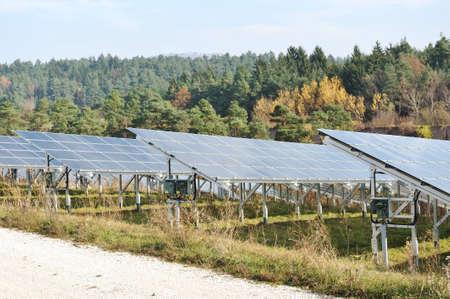 Alternative energy photovoltaic solar panels photo