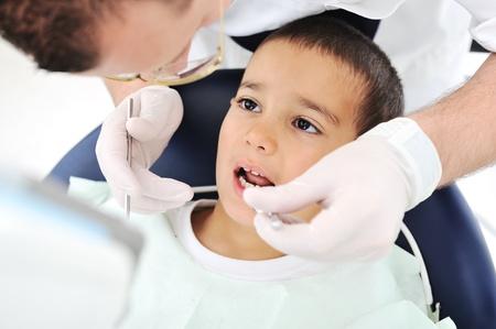 Teeth checkup at dentists office Stock Photo