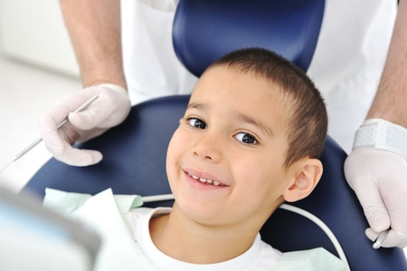 orthodontic: Teeth checkup at dentists office Stock Photo