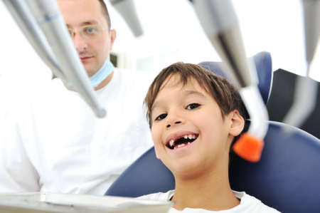 desease: Teeth checkup at dentists office Stock Photo