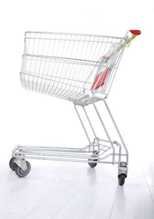 Empty shopping cart on white Stock Photo - 12627518