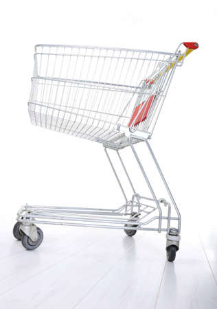 Empty shopping cart on white Stock Photo - 12627518
