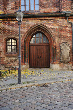 Gate and street in Berlin, public building photo