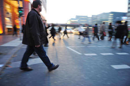 People crowd walking in the city Stock Photo - 12617339