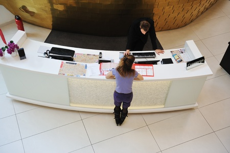 Reception desk Editorial
