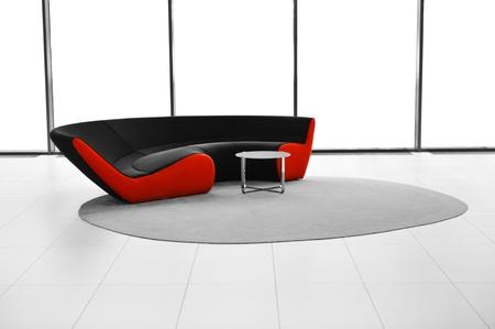 divan: Sofá moderno, mesa y la alfombra, el interior