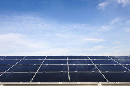 Solar panels energy field photo