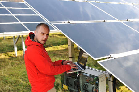 Solar panels energy field Stock Photo - 12627189