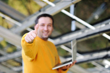 Happy engineer working Stock Photo - 12627411