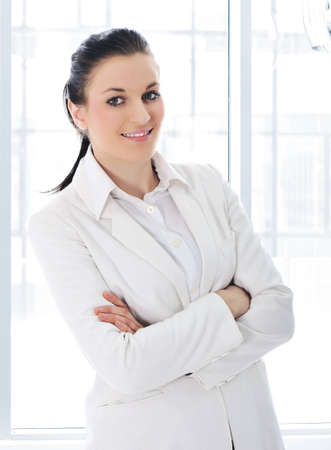 Confident business woman at office photo