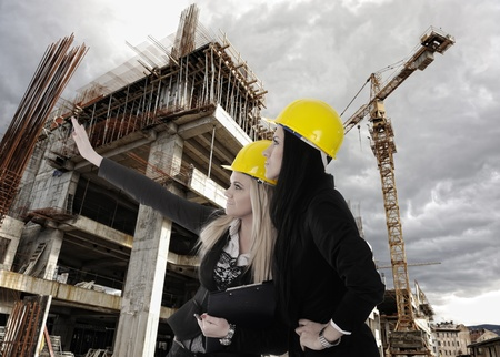 Construction site with crane and building Stock Photo - 13375490