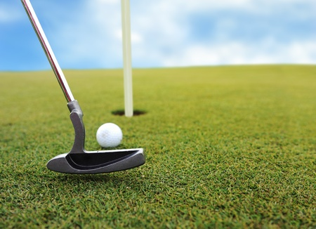 country club: Playing golf