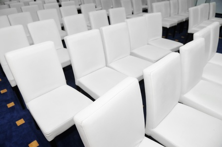 White chairs in conference room Stock Photo - 13381973