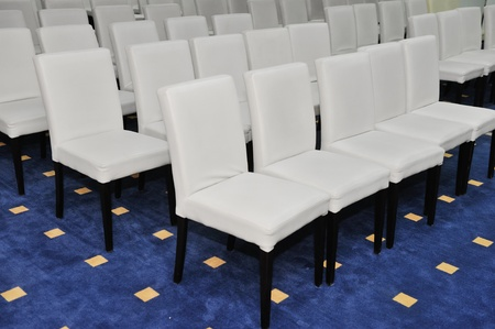 White chairs in conference room Stock Photo - 13363353