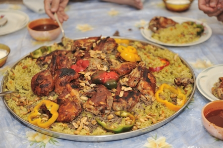 comida arabe: Árabe alimento Foto de archivo