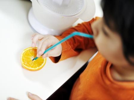 kid at kitchen photo