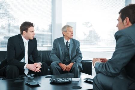 Business people having a break photo