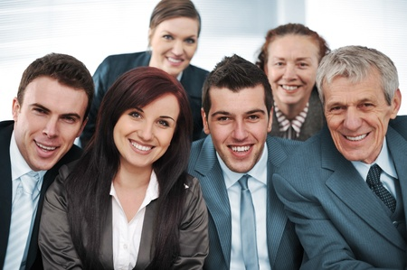 Closeup business group of six Stock Photo - 13381834
